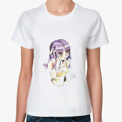 Классическая футболка  'Anime Girl'