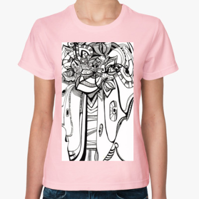 Женская футболка Абстракция цветок