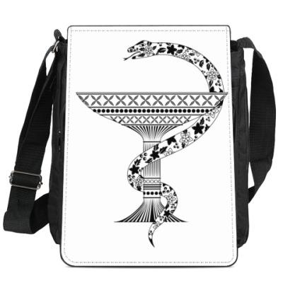 Сумка-планшет чаша со змеей