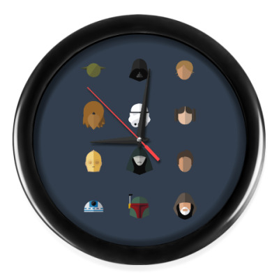 Настенные часы Персонажи Звездных Войн