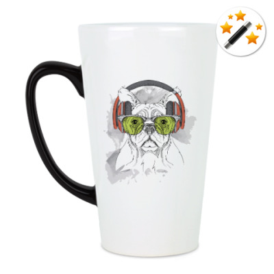 Кружка-хамелеон Собака в зеленых очках