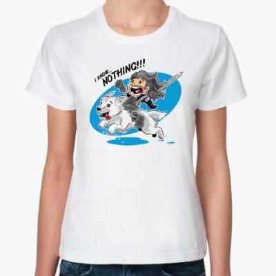 Классическая футболка I know nothing!