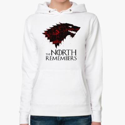 Женская толстовка худи The North Remembers