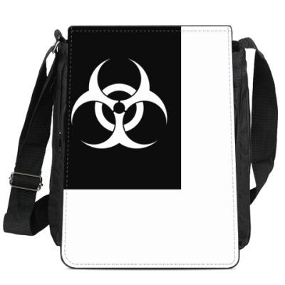 Сумка-планшет Знак Biohazard