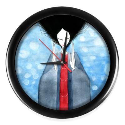 Настенные часы Часы, черные (без цифр)