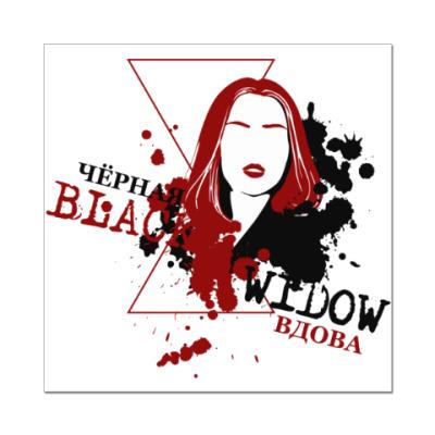 Наклейка (стикер) Black Widow