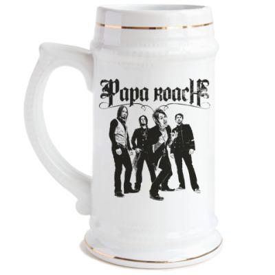 Пивная кружка Papa Roach Group