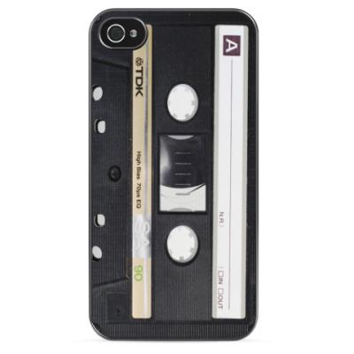 Чехол для iPhone Винтажная аудиокассета