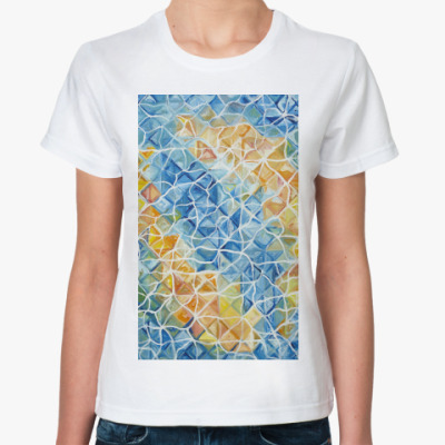 Классическая футболка Рыбы сквозь блики