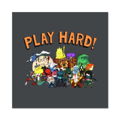 Наклейка (стикер) Play Hard!