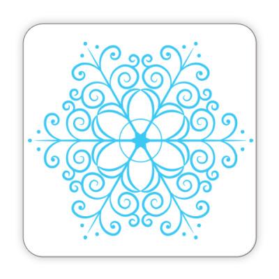 Костер (подставка под кружку) Новогодняя снежинка
