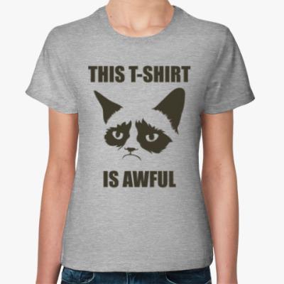 Женская футболка Ужасная футболка