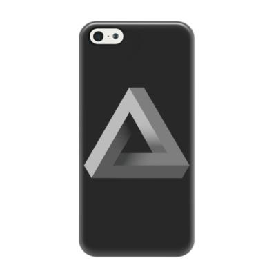 Чехол для iPhone 5/5s Невозможный Треугольник 3D