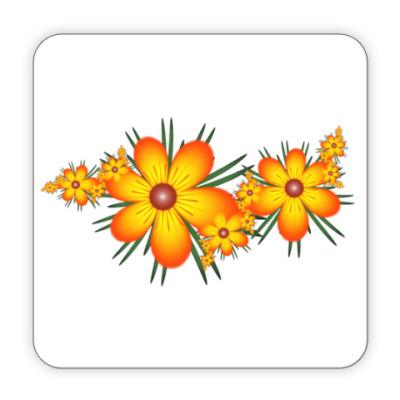 Костер (подставка под кружку) Огнецветы