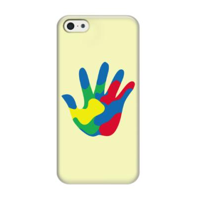Чехол для iPhone 5/5s Отпечаток Руки