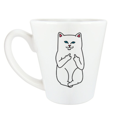 Чашка Латте Kitty with fuck