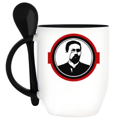 Кружка с ложкой Антон Чехов