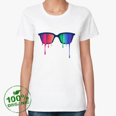 Женская футболка из органик-хлопка Хипстер: очки