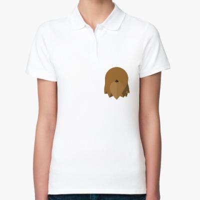 Женская рубашка поло Чубакка (Chewbacca) Минимализм