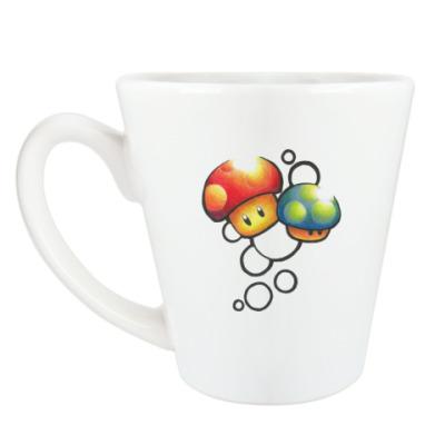 Чашка Латте Mario Mushrooms