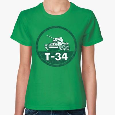 Женская футболка Танк Т-34