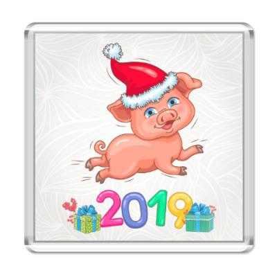 Магнит Новогодняя Свинка 2019