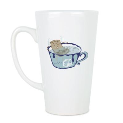Чашка Латте Пакетик в джакузи