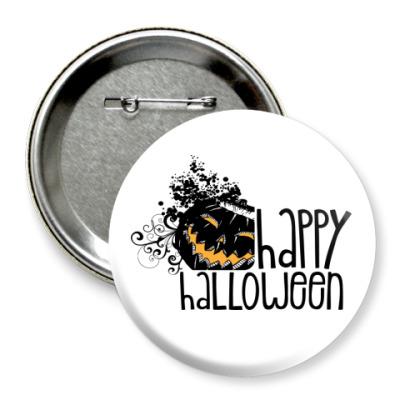 Значок 75мм Happy Halloween