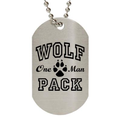 Жетон dog-tag One Man Wolfpack