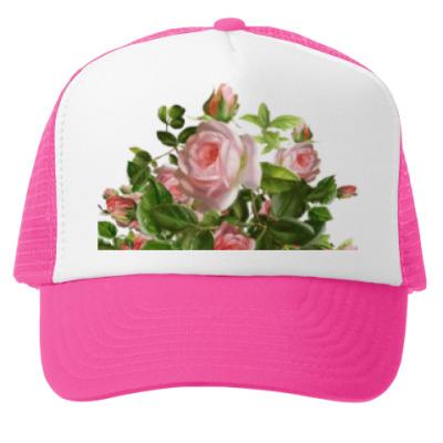 Кепка-тракер Розовый букет