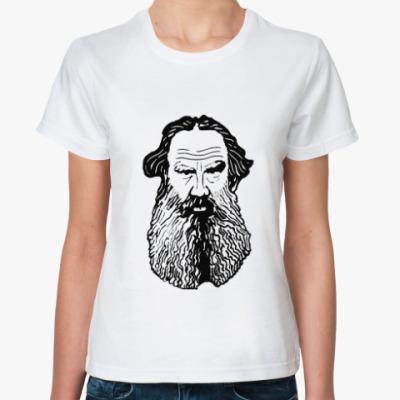 Классическая футболка Лев Толстой