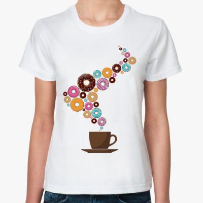 Классическая футболка Кофе с пончиками