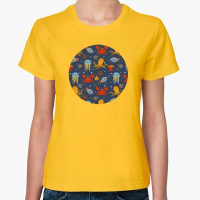 Женская футболка Under the sea