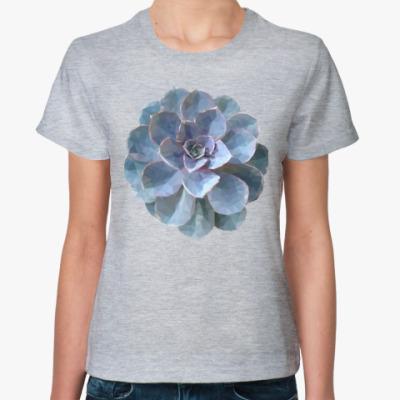 Женская футболка Суккулент мозаика