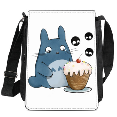 Сумка-планшет Тоторо и кексик
