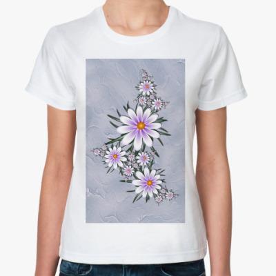 Классическая футболка Нежные цветы
