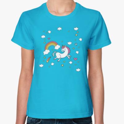 Женская футболка Cloud Unicorn