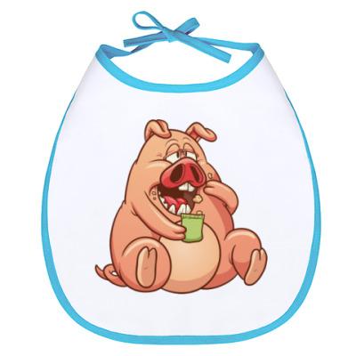 Слюнявчик FAT PIG