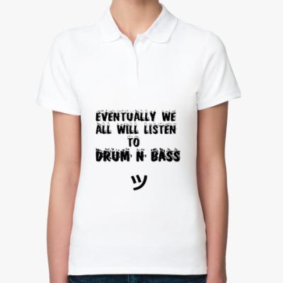 Женская рубашка поло drum and bass