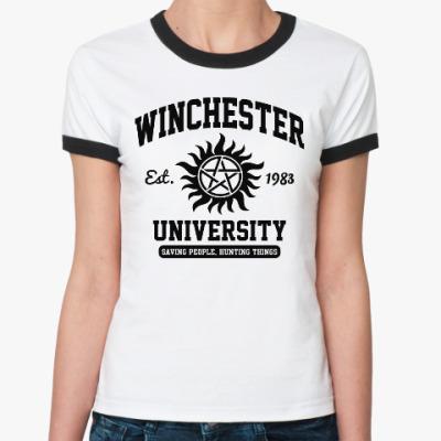 Женская футболка Ringer-T Winchester University
