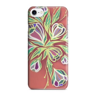 Чехол для iPhone 7/8 Glowing flowers