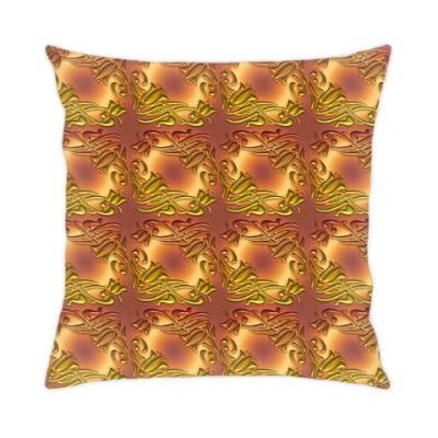 Подушка Золотой Дамаск