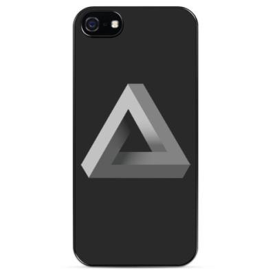 Чехол для iPhone Невозможный Треугольник 3D