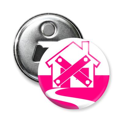 Магнит-открывашка дом