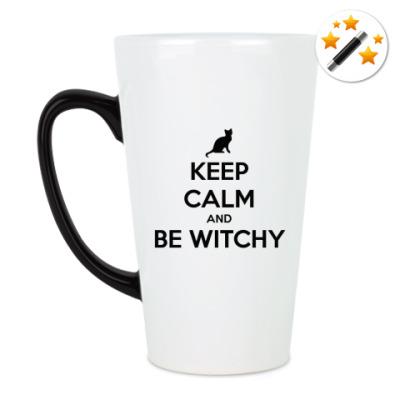 Кружка-хамелеон Keep calm & be witchy