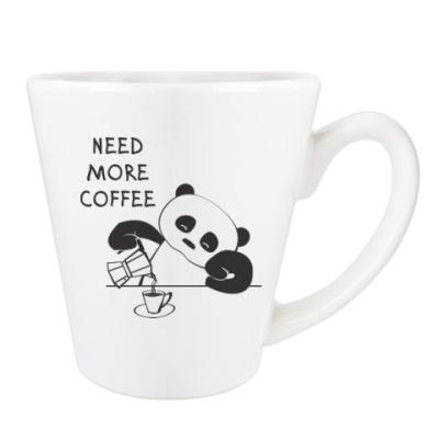 Панда хочет больше кофе