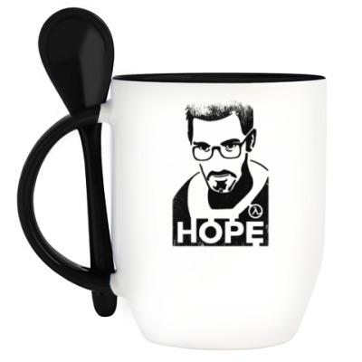 Кружка с ложкой Half-Life