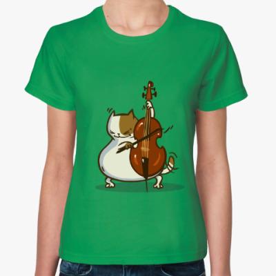 Женская футболка Пятничный Котик №24