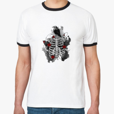 Футболка Ringer-T Черный ворон