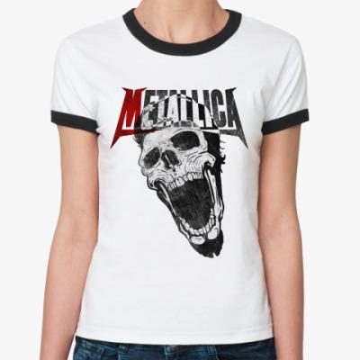 Женская футболка Ringer-T Metallica Skull